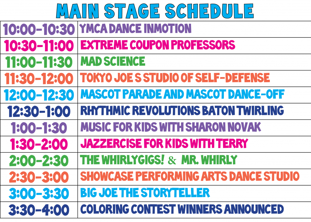 MAIN STAGE SCHEDULE FFD MAY