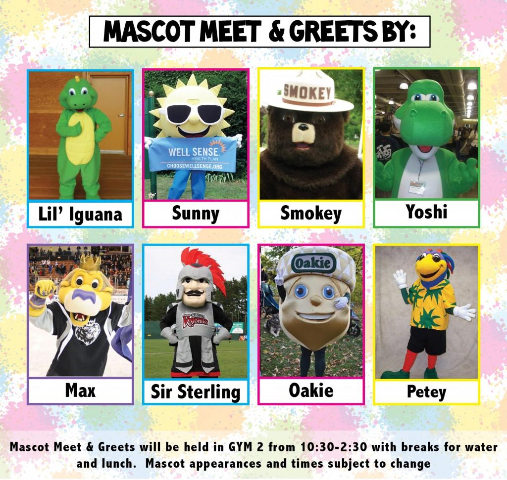 mascot lineup FFD OCT 2014