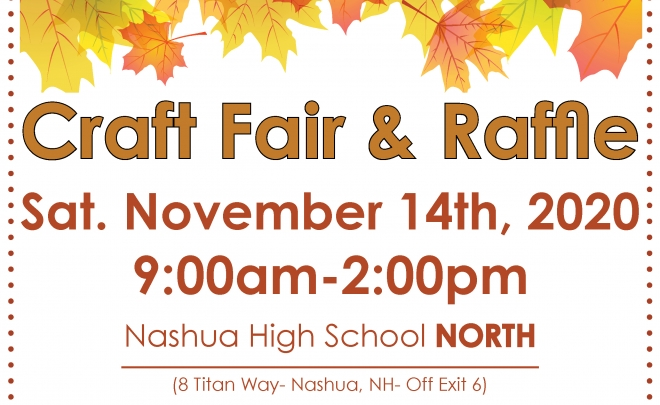 craft fair and raffle half poster 2020