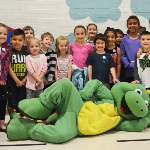 manchester school kids with lil iguana